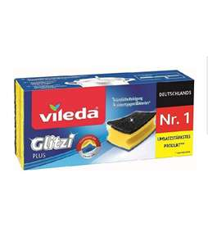 Vileda Glitzi Plus Topfreiniger, 3er Pack