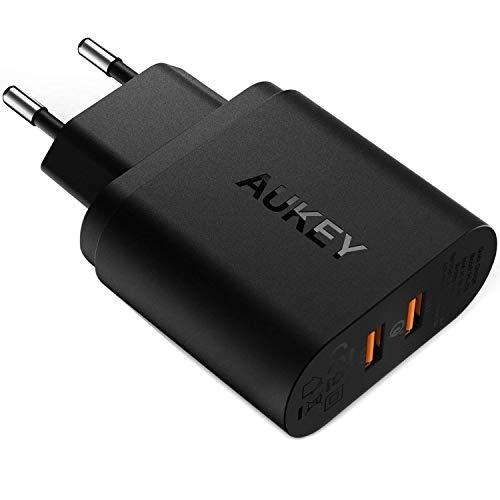AUKEY 2 Port USB Ladegerät 39W mit Quick Charge 3.0