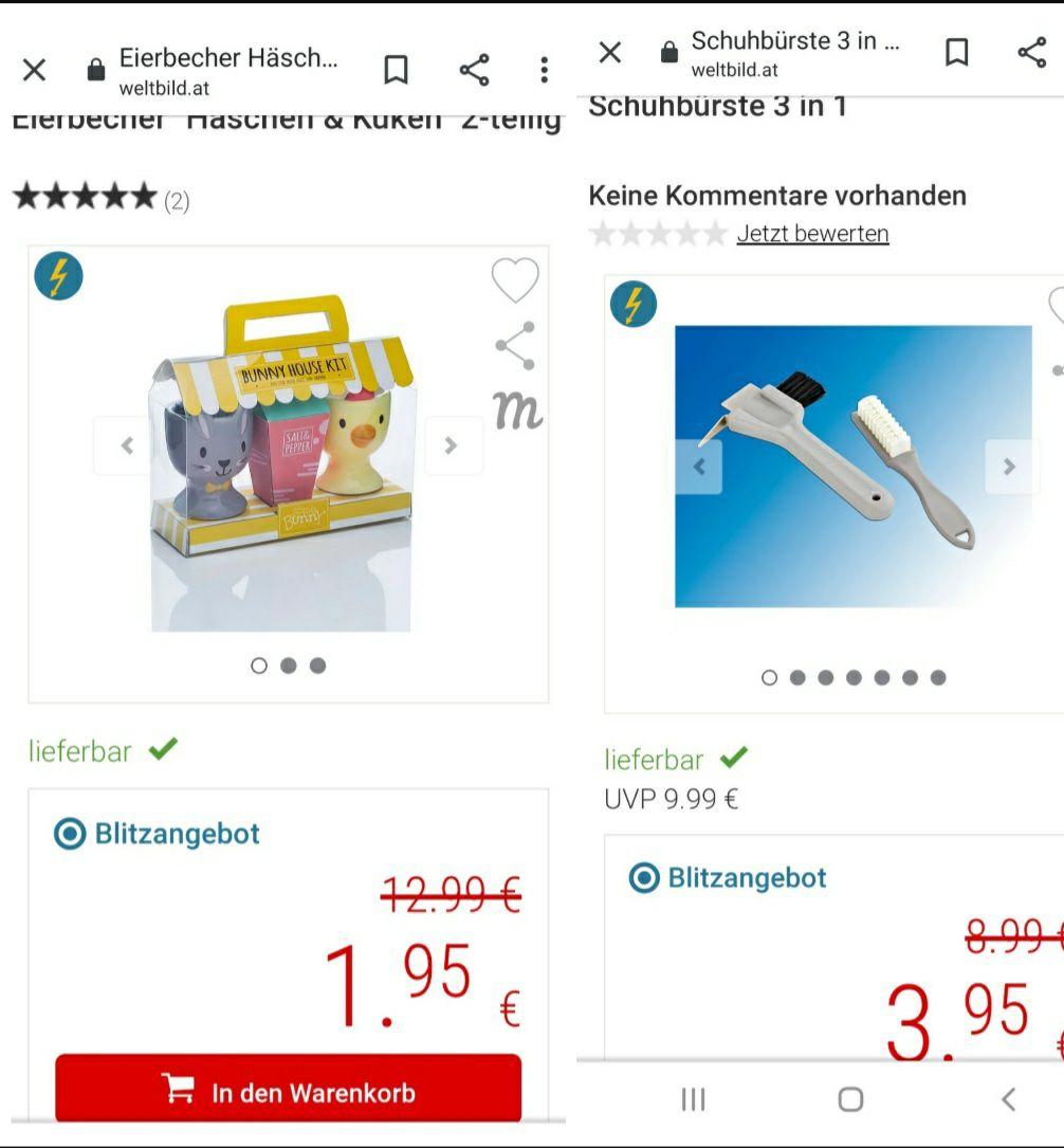 WELTBILD - BLITZANGEBOTE, GRATIS VERSAND, 5€ bei Newsletter Anmeldung!