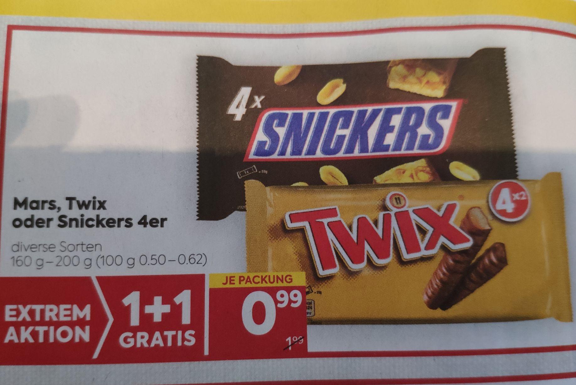 8 x Snickers / Twix / Mars (1+1)