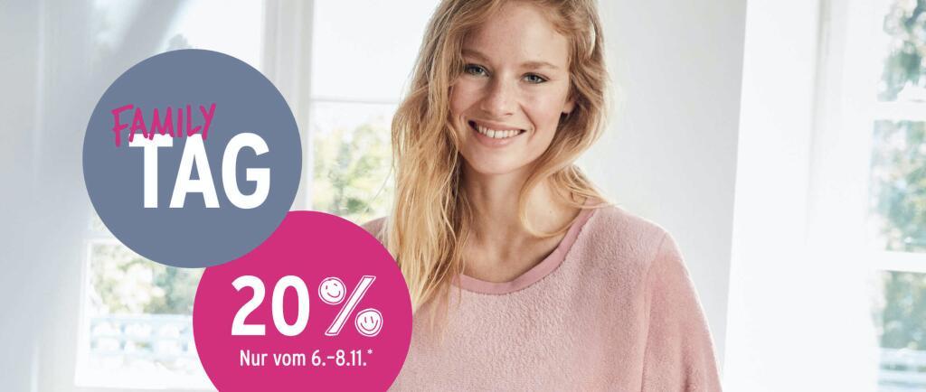 Ernstings Family: 20% Rabatt auf ausgewählte Produkte