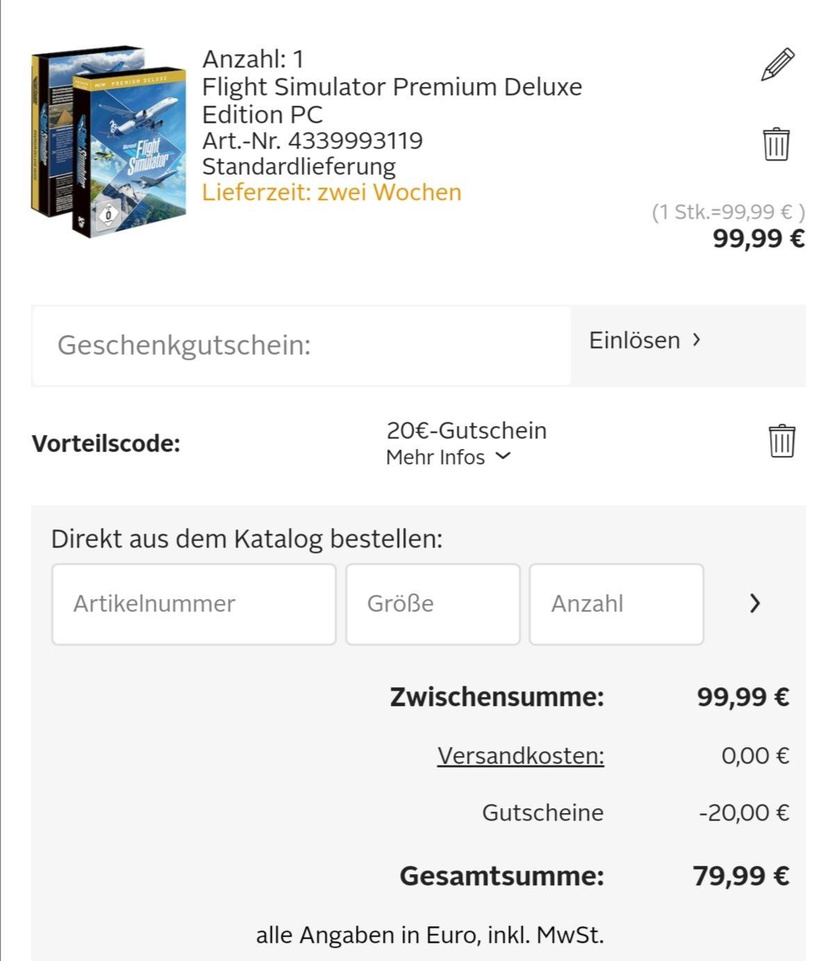 Microsoft Flight Simulator 2020 - Premium Deluxe Edition (PC)