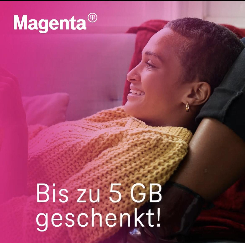 Magenta: 5GB geschenkt für alle Smartphone Tarif Kunden