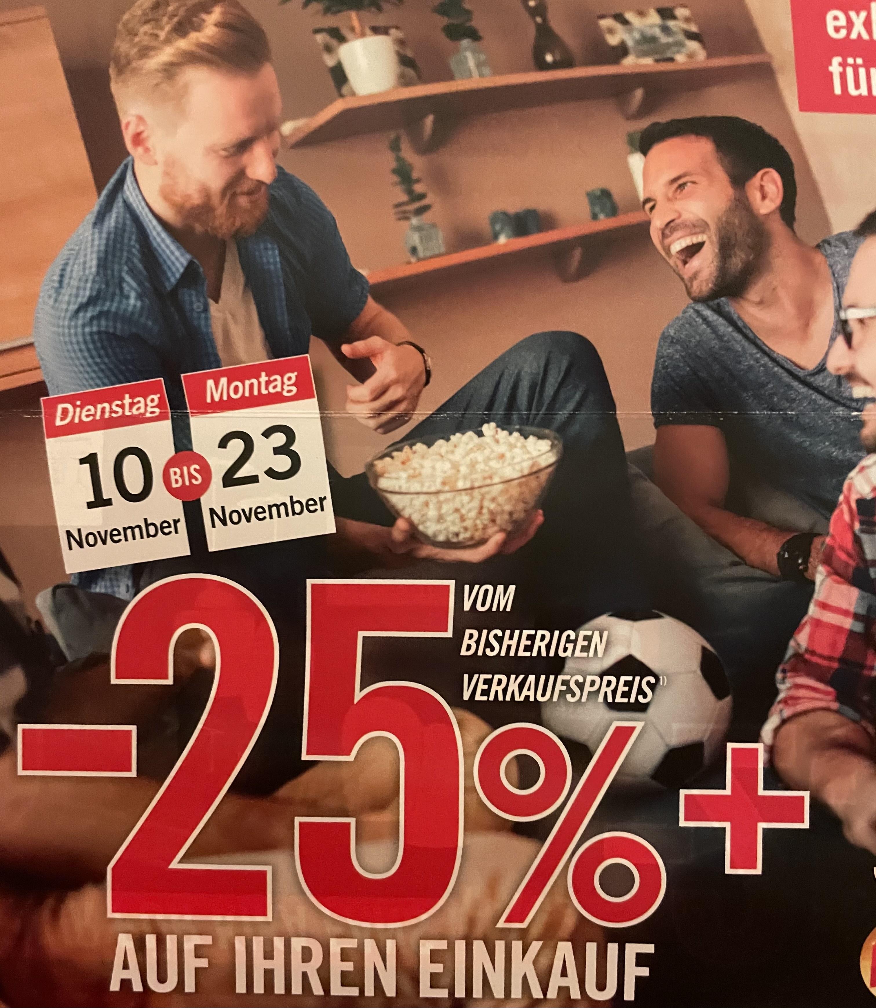 Kika: 25% auf den Einkauf, vom bisherigen Verkaufspreis + 4-Fach Fanpunkte