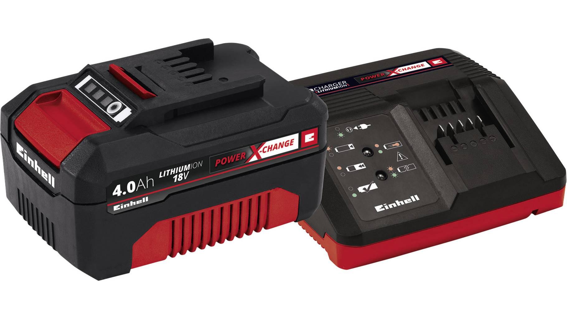 Einhell Power X-Change PXC Starter Kit 18V 4Ah 4512042 Werkzeug-Akku und Ladegerät 18 V 4 Ah Li-Ion