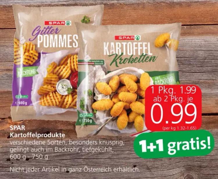 -50% auf Spar Kartoffelprodukte (ab 2 Stk.)