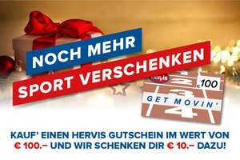 Hervis: 100€ Gutschein kaufen, 110€ erhalten