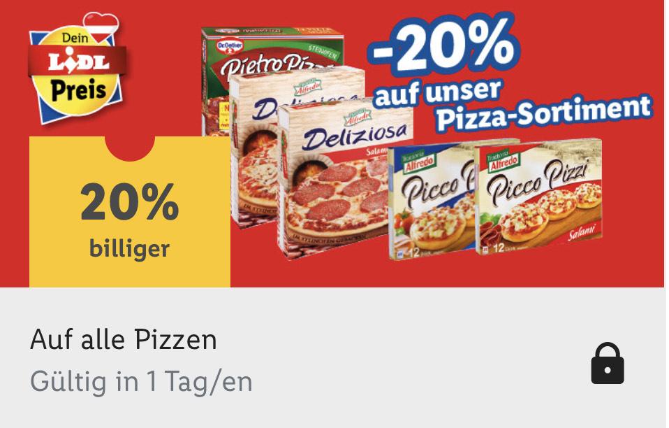 -20 % auf Pizza bei Lidl mit der Lidl Plus App