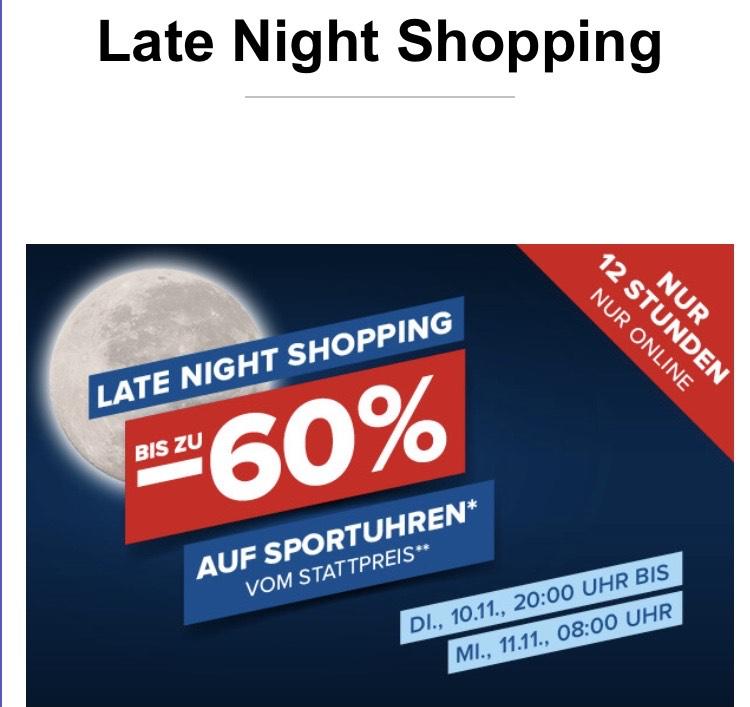 Bis zu -60% auf Sportuhren! Late Night Shopping!