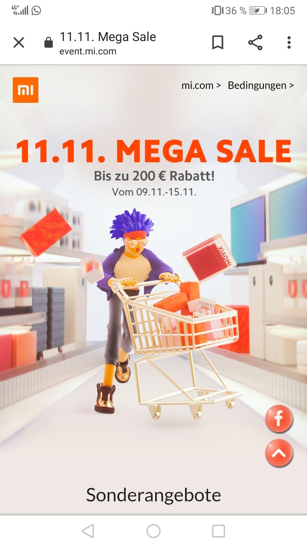 Xiaomi 11.11. Mega Sale - bis zu 200€ Rabatt!