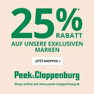 Peek & Cloppenburg: 25% Rabatt auf alle exklusiv Marken