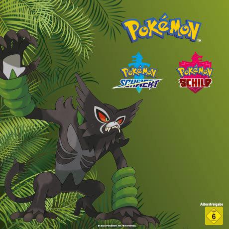 Zarude für Pokémon Schwert od. Pokémon Schild (Nintendo Switch) Gratis exklusiv bei Gamestop /Restposten T-Shirts je 5 Euro im Dealtext