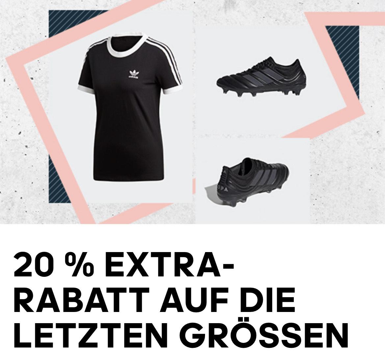 Adidas: 20% Extra-Rabatt im Restgrößen-Sale