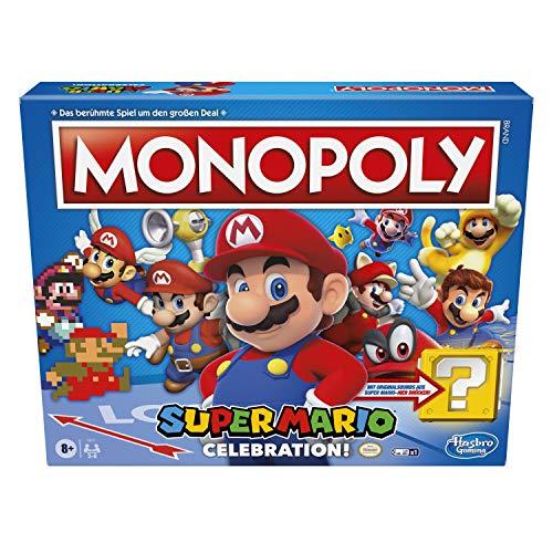 Monopoly Super Mario Celebration Brettspiel für Super Mario Fans ab 8 Jahren