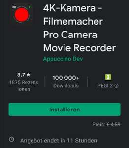 Vollversion: 4K-Kamera - Filmemacher Pro