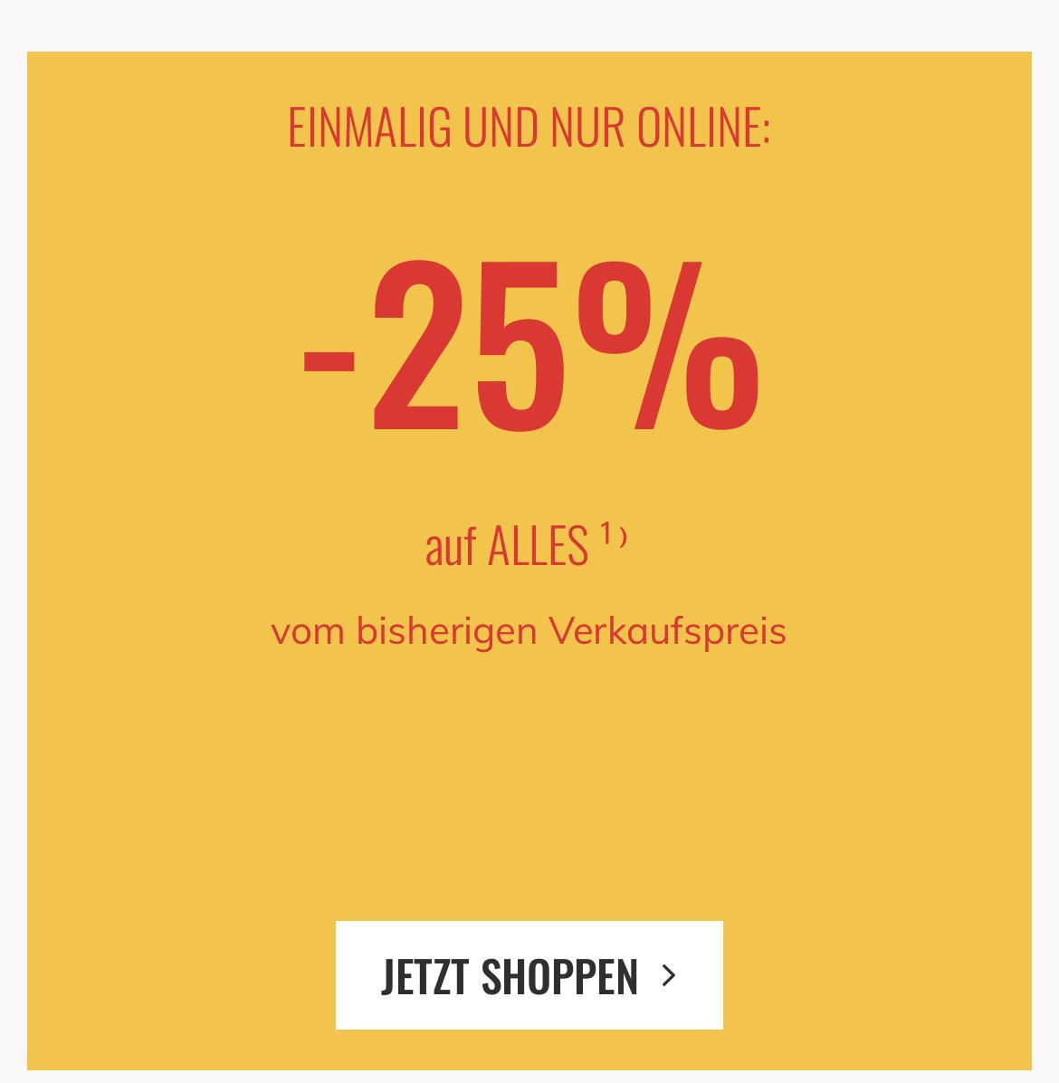 -25% auf alles bei kika & Leiner OHNE AUSNAHMEN