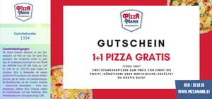 [Pizza Mann] 1+1 Pizza Gratis