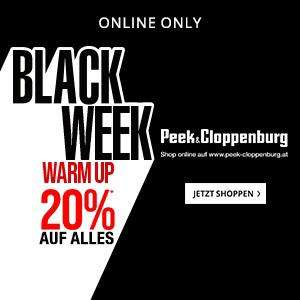 Peek & Cloppenburg Black Friday Warm Up: 20% Rabatt auf alles