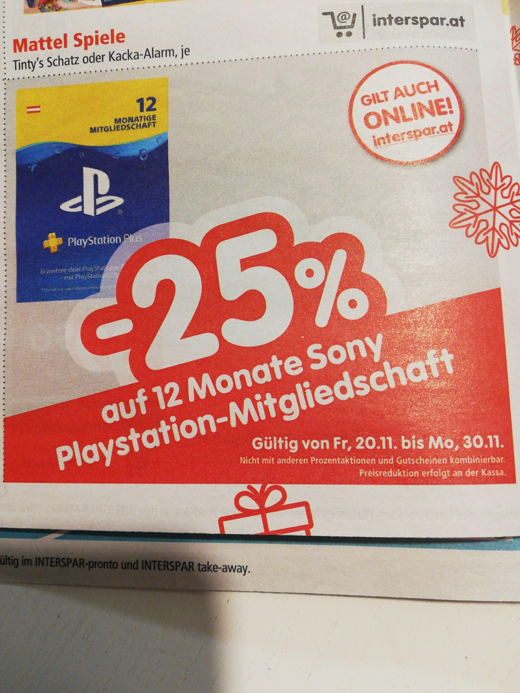 PlayStation-Mitgiedschaft -25%