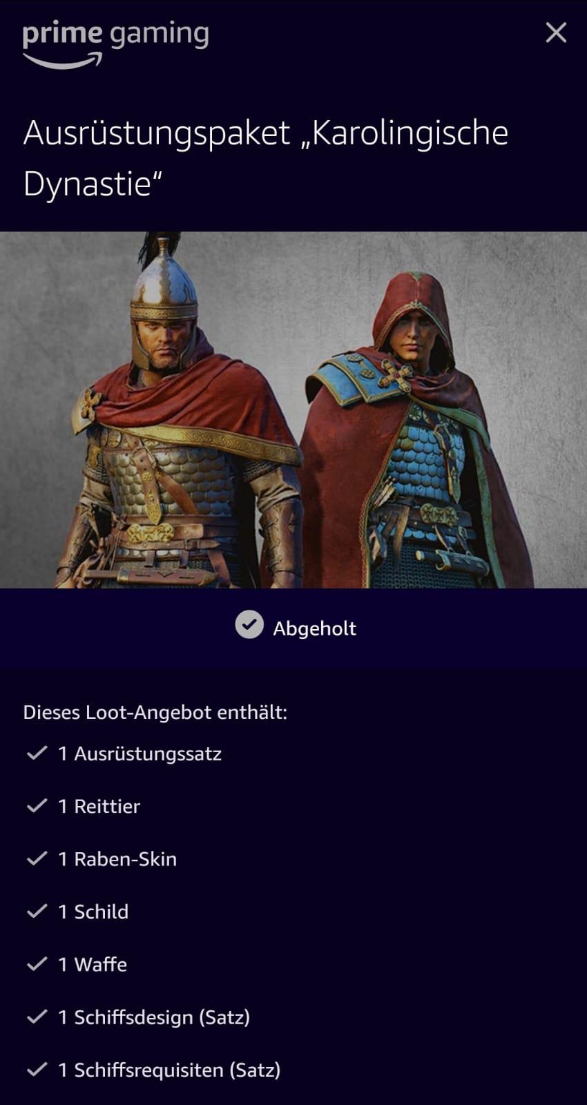 """Assassin's Creed Valhalla - Ausrüstungspaket """"Karolingische Dynastie"""""""