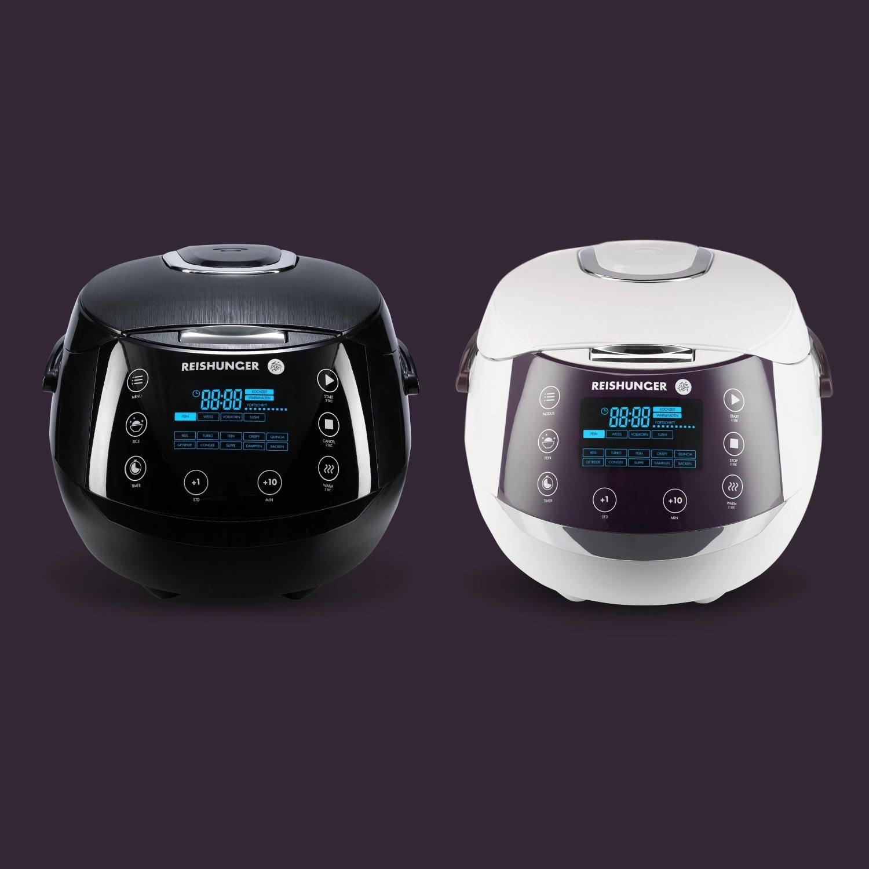 Reishunger Digitaler Reiskocher für 1,5kg Reis + 3kg Jasmin Reis gratis