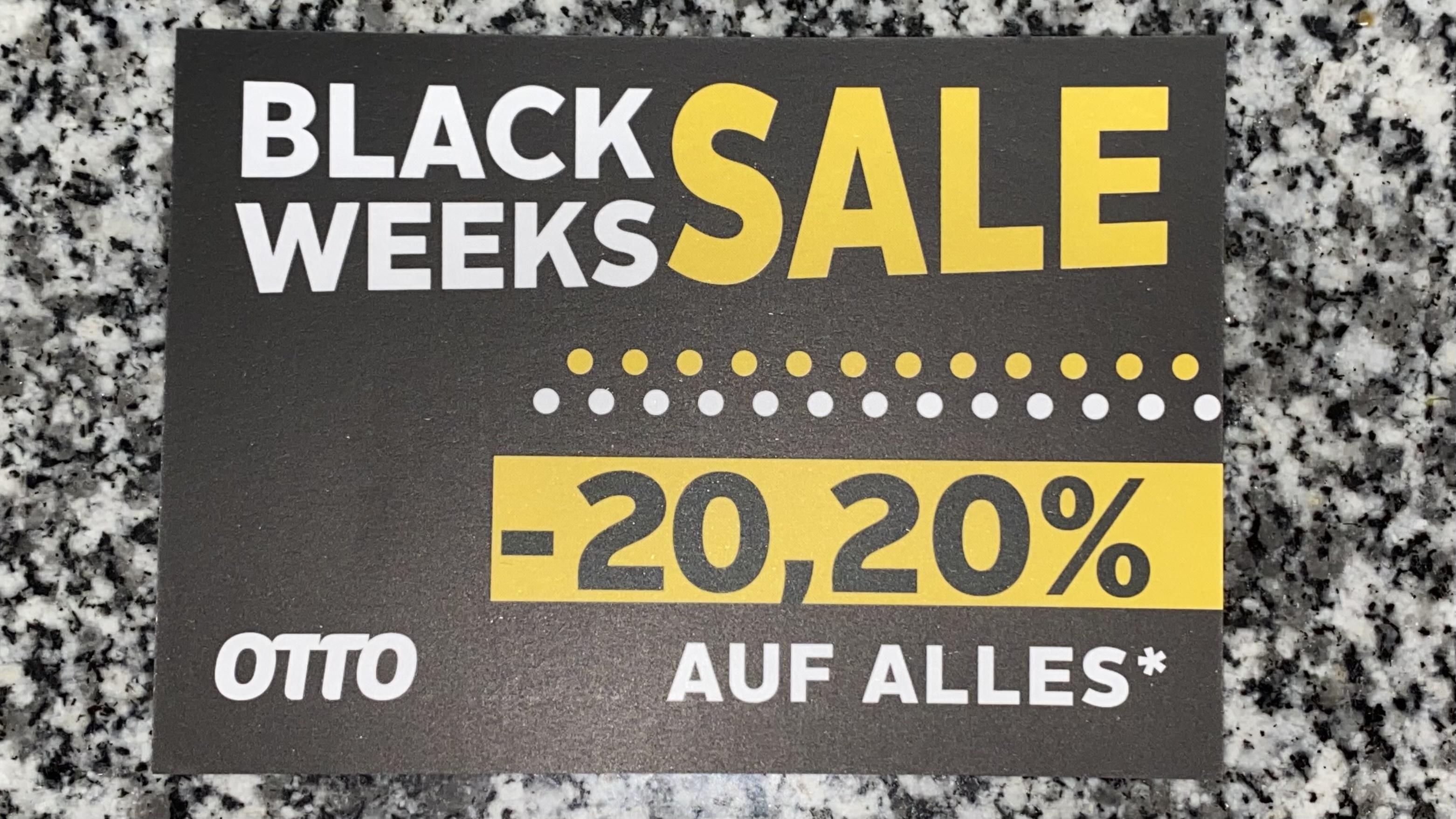 [ OTTO Versand ] -20,20% auf ALLES außer Technik (Black Week Sale)
