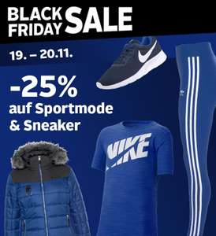 Otto: 25% Rabatt auf Sportmode und Sneaker
