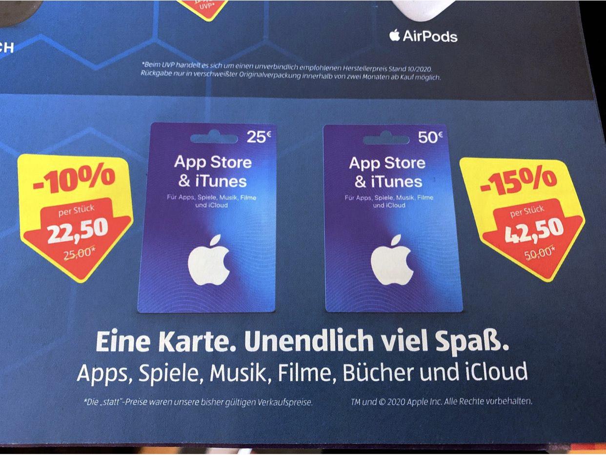 Hofer Itunes Karten -10% und -15%
