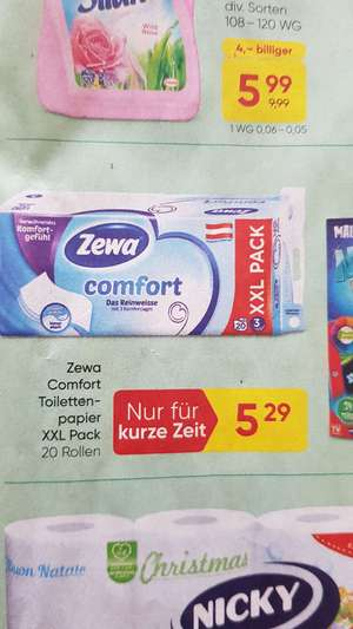 Zewa Toilettenpapier - Merkur