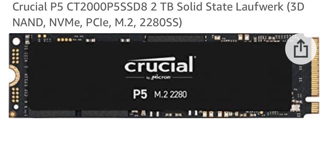 2TB Crucial P5 SSD NVMe M.2