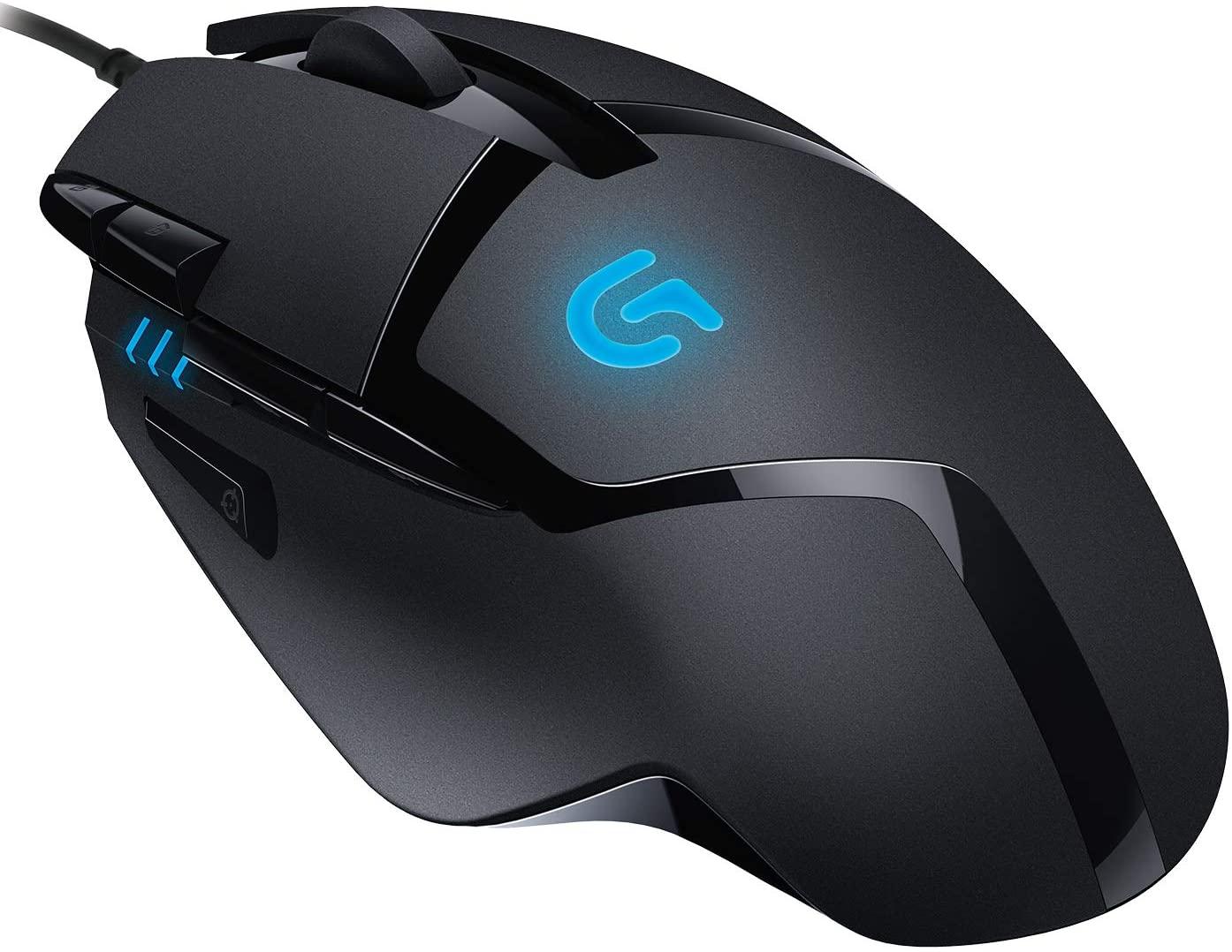 Logitech G402 Hyperion Fury Gaming-Maus, 4000 DPI Optischer Sensor, 8 Programmierbare Tasten