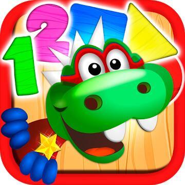 Dino Tim Vollversion: Spiele Formen Farben (Android) gratis im Google PlayStore - ohne Werbung / ohne InApp-Käufe -