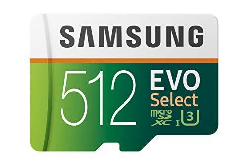 512GB SDxc Samsung mit bis zu 100MB/s Lesegeschwindigkeit