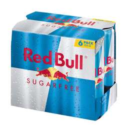 Red Bull Sugarfree 6 Dosen inkl. Versand 4,50€ (je 0,75€) statt 5,28 in Aktion