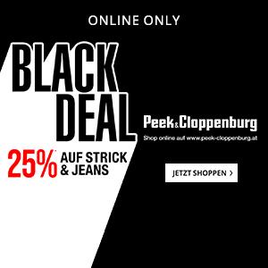 Peek & Cloppenburg: 25% auf Strick & Jeans Artikel