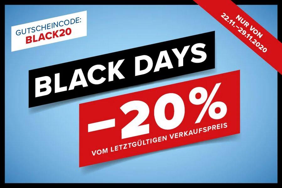 Hervis: 20% Rabatt vom letztgültigen Verkaufspreis + gratis Versand.