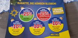 Metro: -25% Super Saver Rabatt