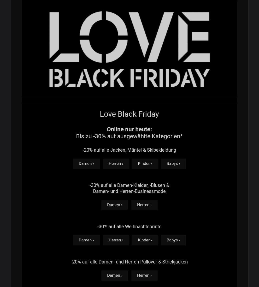 [C&A] Black Friday Week