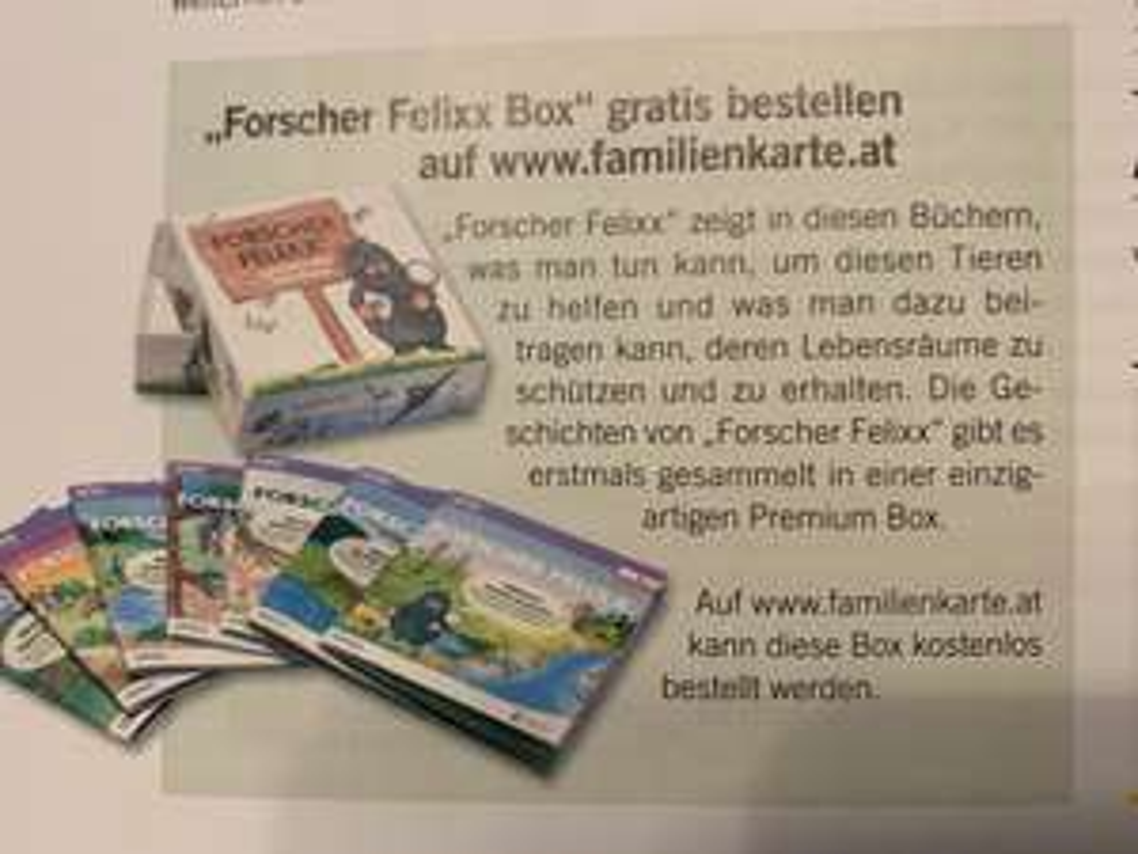 Forscher Felixx Box gratis