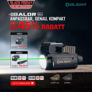 Olight Black Friday Deal bis -45%