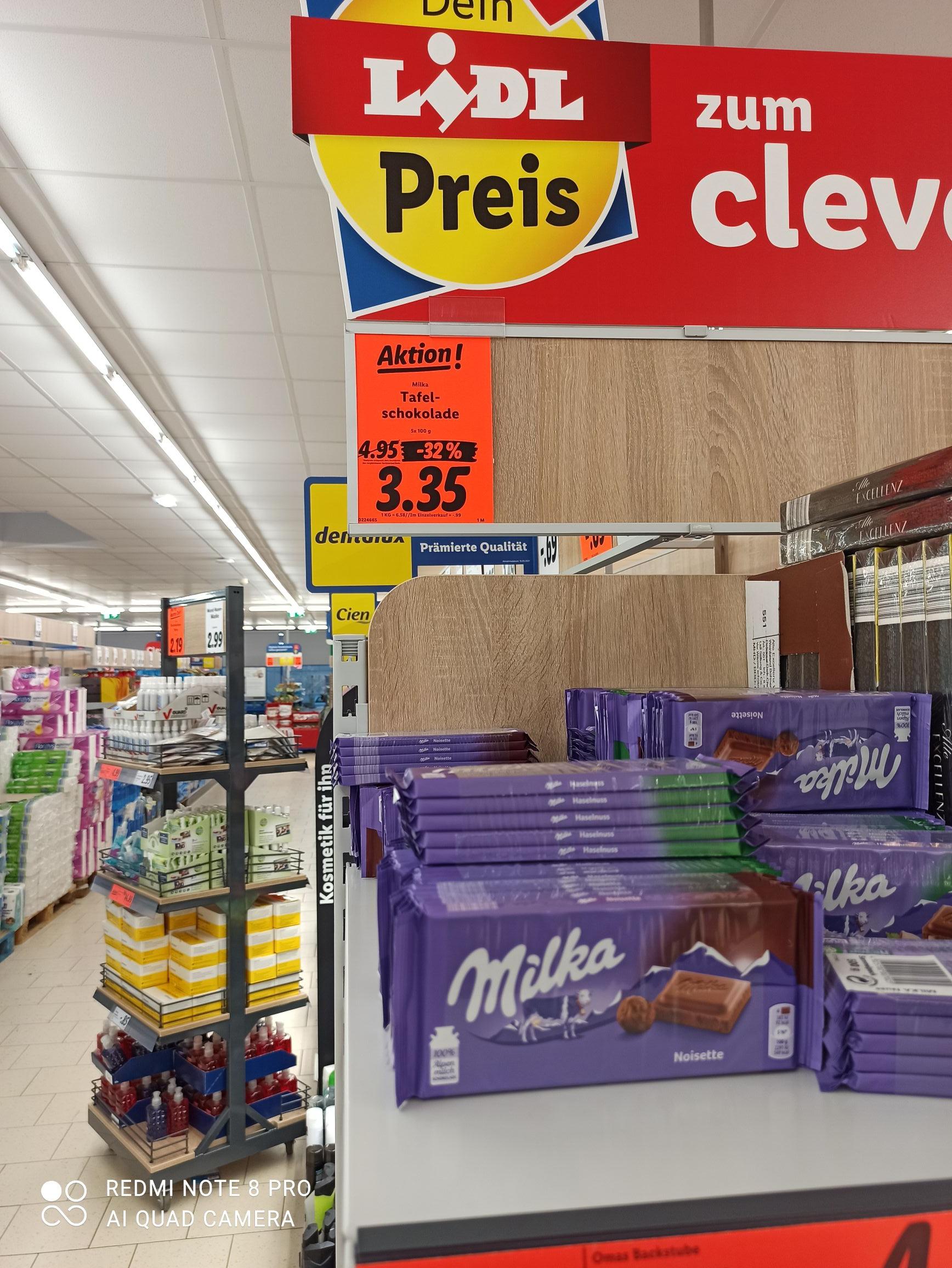 Milka Schokolade 5 Stück beim Lidl