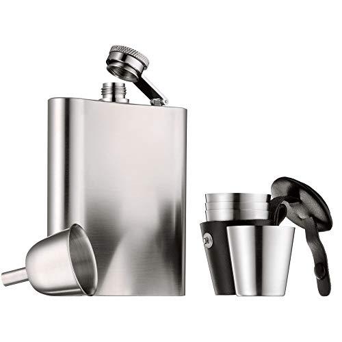 WMF Manhattan Flachmann Edelstahl 6-teilig Für stilvolle Trinker