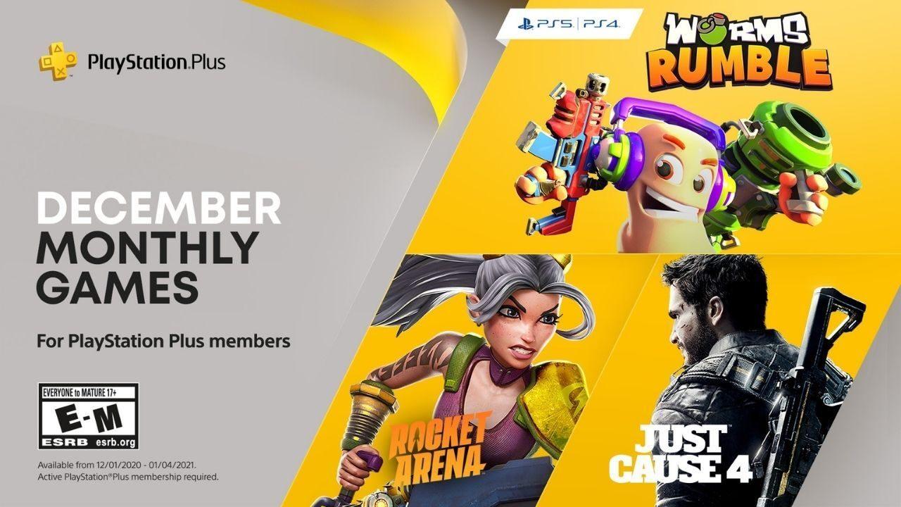 PS Plus Spiele für Dezember sind bekannt: Worms Rumble, Rocket Arena und Just Cause 4 ohne zusätliche Kosten mit PS Plus