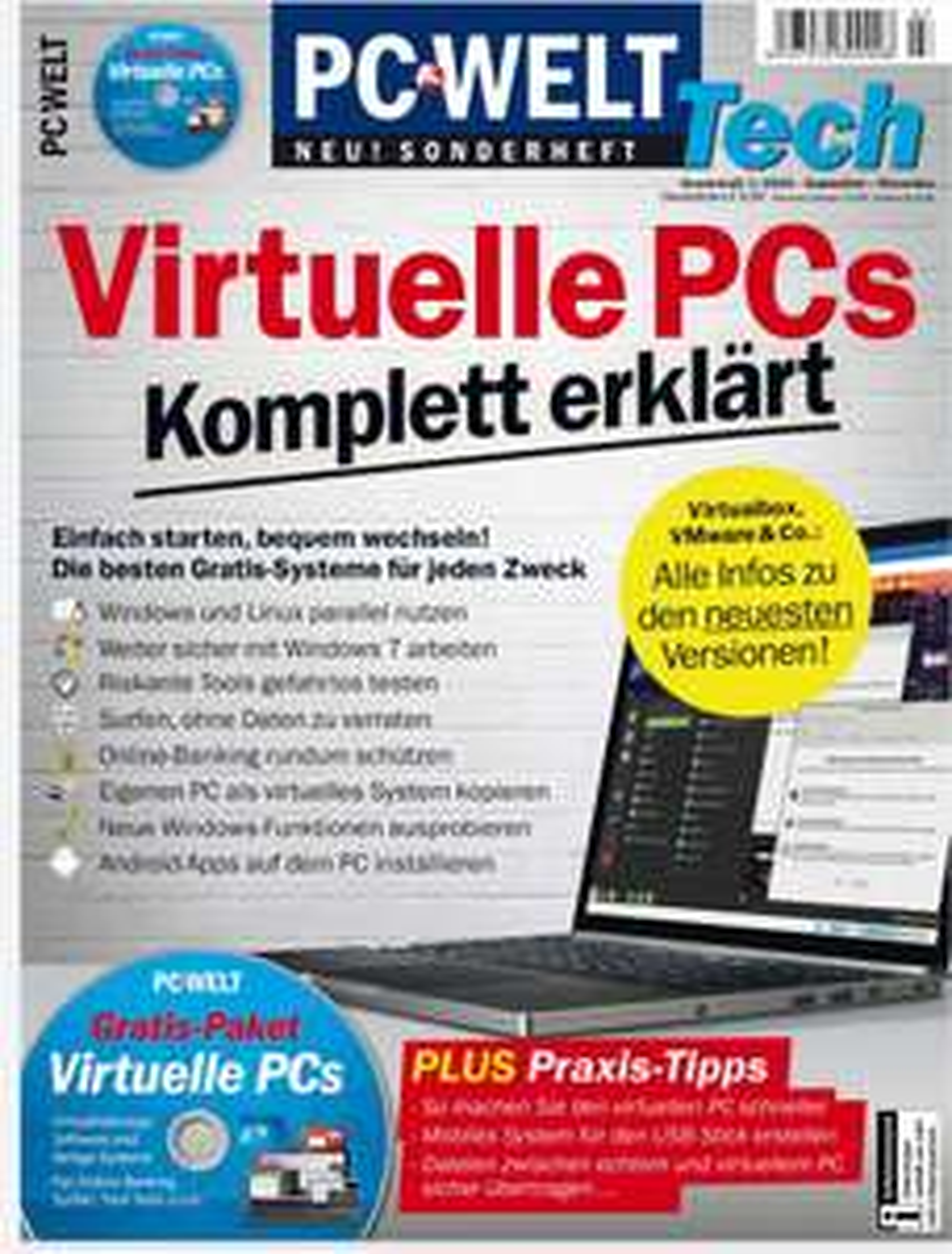 """Gratis """"Virtuelle PCs - Komplett erklärt"""" PC-WELT Tech Sonderheft als PDF anstatt 10,95 Euro"""