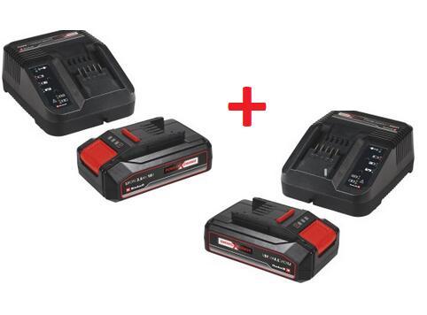 2 x Einhell 2.5Ah 18V Power-X-Change Starter-Kit Akku + Ladegerät für 32,57€ statt 40,32€ (im Angebot) (Obi 73,90€)