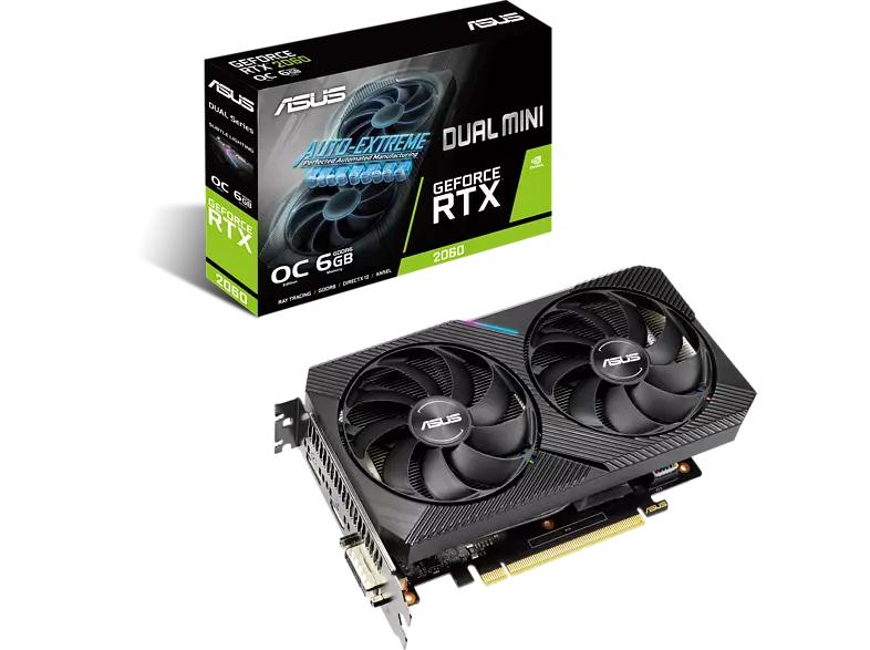 ASUS Grafikkarte Dual GeForce RTX 2060 Mini OC
