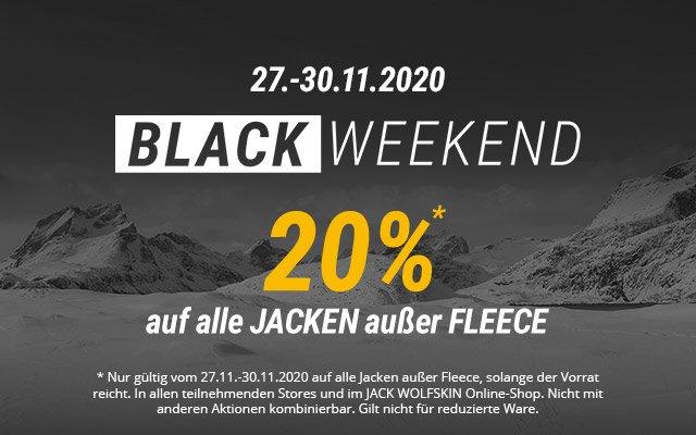 -20% auf ALLE Jacken außer Fleece bei Jack Wolfskin