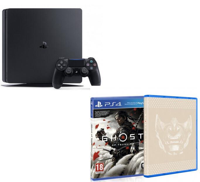 Playstation 4 Slim, 500GB + Ghost of Tsushima oder Last of Us 2 oder Spiderman: Miles Morales