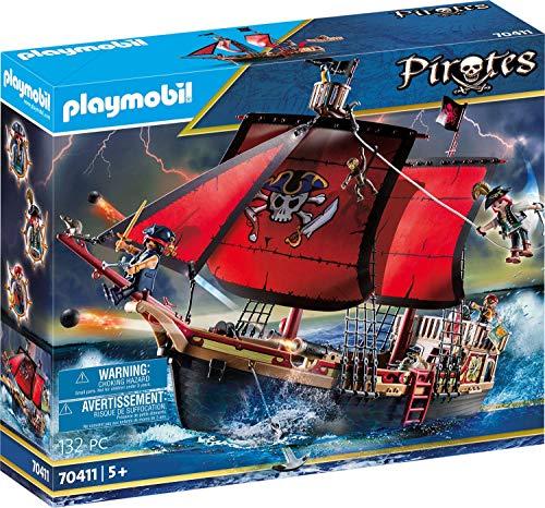Playmobil Pirates 70411 Totenkopf-Kampfschiff