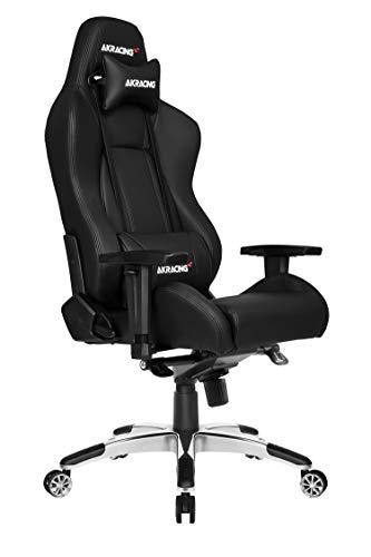 AKRACING Gaming Chair Gamingchair, PU-Kunstleder, Master Premium Schwarz, normal